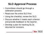 slo approval process