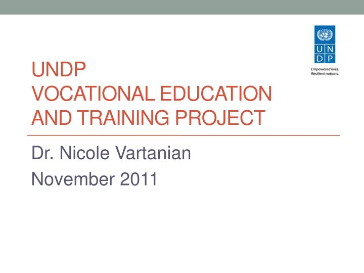 undp vocational education and training project n.
