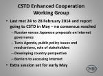 cstd enhanced cooperation working group