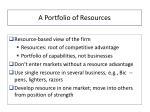 a portfolio of resources