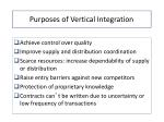 purposes of vertical integration