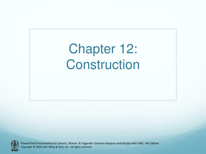 chapter 12 construction n.