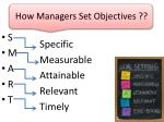 how managers set objectives