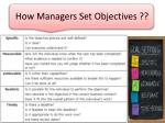 how managers set objectives1