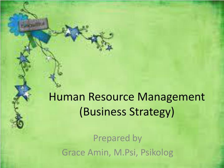 human resource management business strategy n.