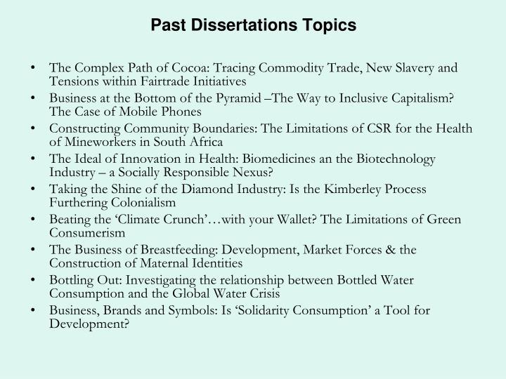 uwe past dissertations
