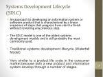systems development lifecycle sdlc