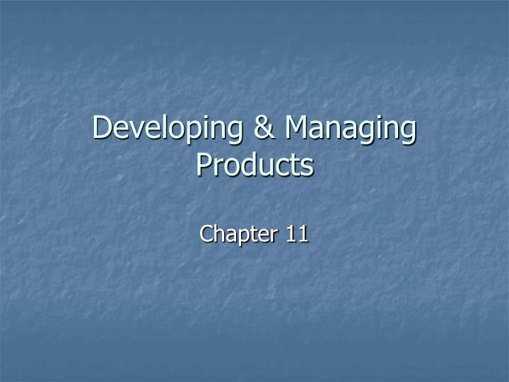 developing managing products n.