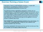 exercise running a kaizen event