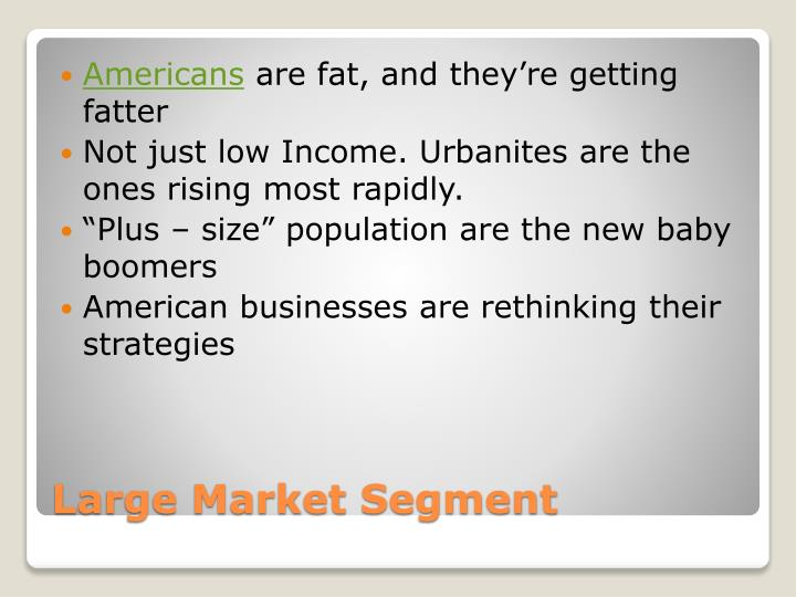 Large market segment