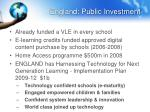 england public investment