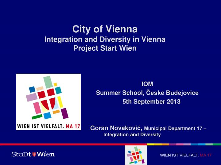 city of vienna integration and diversity in vienna project start wien n.