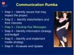 communication rumba
