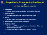 empathetic communication model for low trust high concern situations