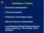 examples of values
