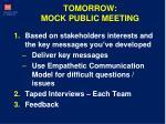 tomorrow mock public meeting