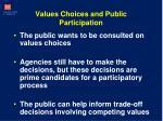 values choices and public participation
