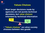 values choices