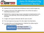 intro to watford city investment market