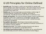 6 ud principles for online defined