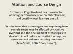 attrition and course design
