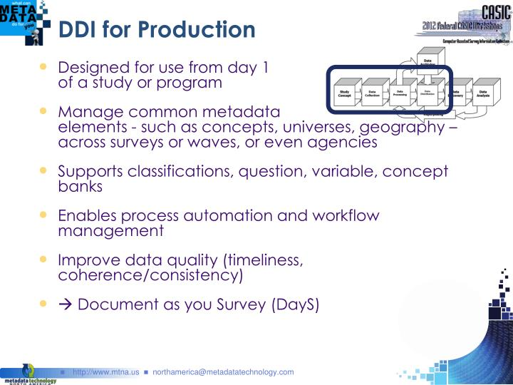 DDI for Production