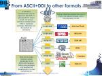 from ascii ddi to other formats
