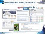 metadata has been successful