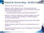 robert m groves blog 02 2012