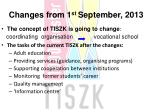 changes from 1 st s eptember 2013
