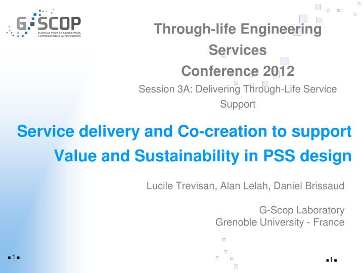 service delivery and co creation to support value and sustainability in pss design n.