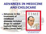 advances in medicine and childcare