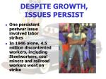 despite growth issues persist