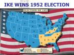 ike wins 1952 election