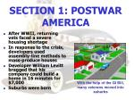 section 1 postwar america