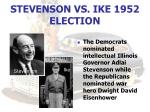 stevenson vs ike 1952 election