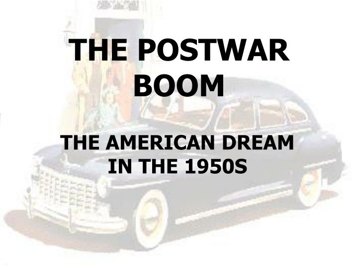 the postwar boom n.