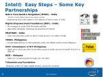 intel easy steps some key partnerships