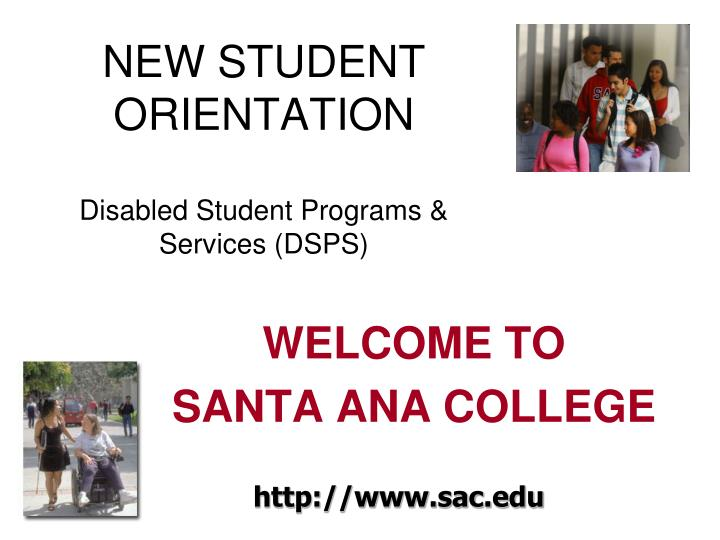 new student orientation disabled student programs services dsps n.