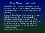 five pillars continued