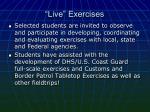 live exercises