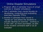 online disaster simulations