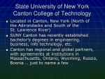 state university of new york canton college of technology