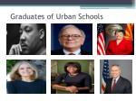 graduates of urban schools