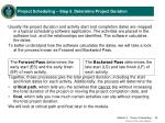 project scheduling step 5 determine project duration