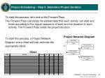 project scheduling step 5 determine project duration1