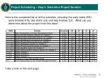 project scheduling step 5 determine project duration11