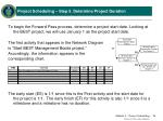 project scheduling step 5 determine project duration2