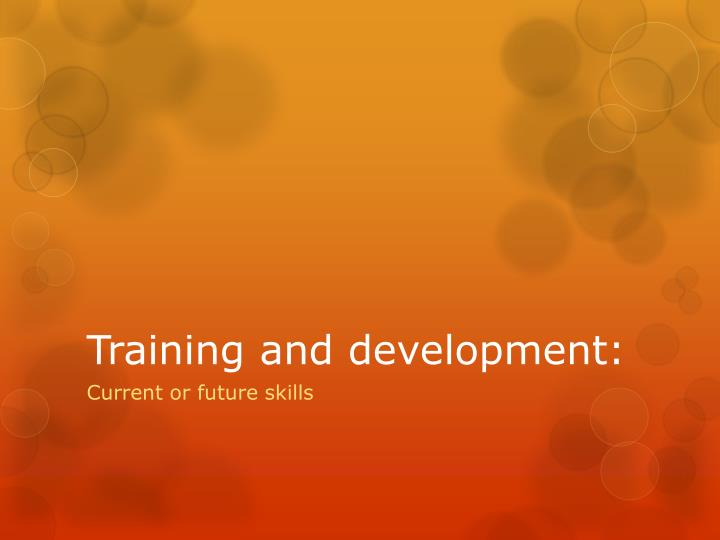 training and development n.