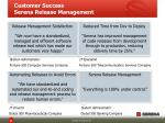customer success serena release management
